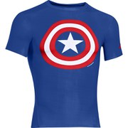 Under Armour Men's Captain America Compression Short Sleeved T-Shirt - Blue/Red/White