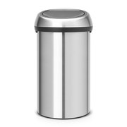 Brabantia 60 Litre Fingerprint Proof Touch Bin - Matt Steel