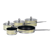 Morphy Richards 46412 5 Piece Pan Set - Cream