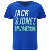 Jack & Jones Men's Core Up Short Sleeve Crew Neck T-Shirt - Turkish Sea