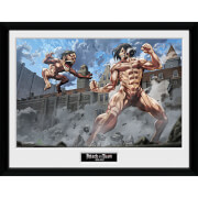 Attack on Titan Titan Fight - Framed Photographic - 16 Inch x 12 Inch