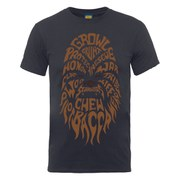 Star Wars Men's Chewbacca Text Head T-Shirt - Charcoal