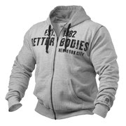 Better Bodies Graphic Hoodie - Grey Melange
