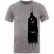 T-Shirt DC Comics Men Batman Arkham Knight -Gris