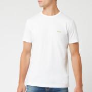 BOSS Men's Basic Crew Shoulder Logo T-Shirt - White
