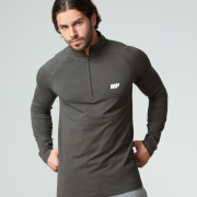 Myprotein Men's Performance Long Sleeve 1/4 Zip Top - Black