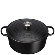 Le Creuset Signature Cast Iron Round Casserole Dish - 28cm - Satin Black