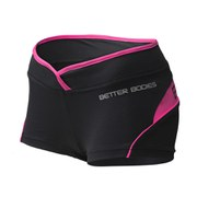 Better Bodies Women's Shaped Hot Pants - Black/Pink