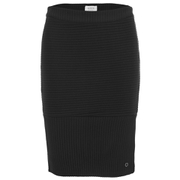 nümph Womens Ribbed Pencil Skirt - Caviar