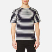 Armor Lux Men's Doélan Breton Stripe T-Shirt - Navy/Nature Cream