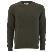 Fjallraven Men's Ovik Crew Neck Jumper - Dark Olive