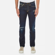 Edwin Men's ED80 Slim Tapered Rainbow Selvedge Denim Jeans - Dark Blue