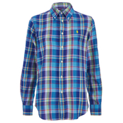 Polo Ralph Lauren Women's Relaxed Evie Shirt - Blue/Lime