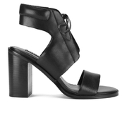 Senso Women's Valleri VI Leather Lace-up Heeled Sandals - Ebony