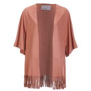 Vero Moda Women's Faith Fake Suede Kimono - Cognac