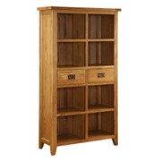 Vancouver Oak VXA023 Two Drawer Bookcase