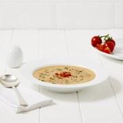 Zuppa al pomodoro e basilico
