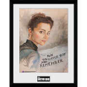 Doctor Who Clara Painting - 16 x 12 Inches Framed Photographic
