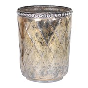 Bark & Blossom Gold and Black Glass Jar