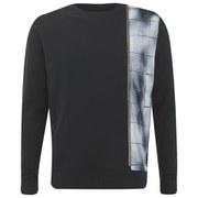 Eclipse Men's Wilson Zip Panel Crew Neck Sweatshirt - Black