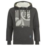 Crosshatch Men's Lambent Graphic Hoody - Charcoal Marl