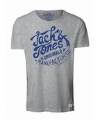 Jack & Jones Men's Light T-Shirt - Light Grey Melange