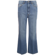 Marc by Marc Jacobs Women's Wide Leg Denim Trousers - Crop Blue