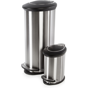 Morphy Richards 977102 Oval Pedal Bin Set - Stainless Steel - 30L & 5L