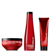 Shu Uemura Art of Hair Color Lustre Sulfatfreies Shampoo (300ml), Maske (200ml) und Thermo-Milk (150ml)