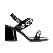 Marc by Marc Jacobs Women's Stevie Leather Block Heeled Sandals - Black