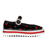 Marc by Marc Jacobs Women's Suzi Mary Jane Cherry Espadrille - Black