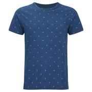 Universal Works Men's Cross Jersey Print T-Shirt - Blue
