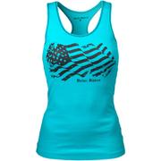 Better Bodies Women's N.Y Rib T-Back Tank Top - Aqua Blue