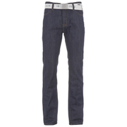 Jeans Denim Smith & Jones pour Homme Farrier Belted -Foncé