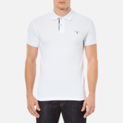 GANT Men's Contrast Collar Pique Polo Shirt - White
