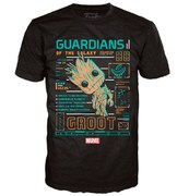 Marvel Guardians of the Galaxy Groot Line Up Pop! T-Shirt - Black