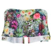 Wildfox Women's Fairy Wall Strapless Flutter Bikini Top - Multi
