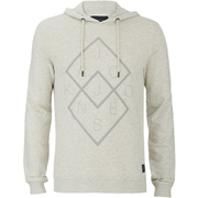 Jack & Jones Men's Core Fat Hoody - Treated White