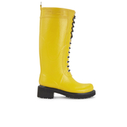 Ilse Jacobsen Women's Lace Up Tall Rubber Boots - Cyber Yellow