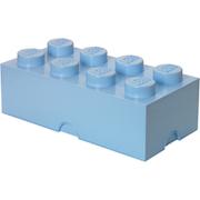 LEGO Aufbewahrungsbox 8 Noppen - Hellblau