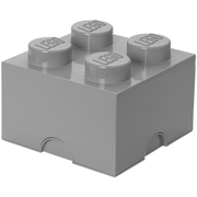 LEGO Aufbewahrungsbox 4 Noppen - Grau