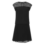 Karl Lagerfeld Women's Mesh Panelled Dress - Black
