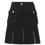 Karl Lagerfeld Women's Karl Denim Flare Skirt - Black
