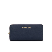 MICHAEL MICHAEL KORS Women's Jet Set Travel Zip Around Purse - Navy