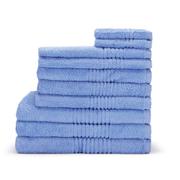 Highams 100% Egyptian Cotton 10 Piece Towel Bale (550gsm) - Blue