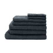 Highams 100% Cotton 7 Piece Towel Bale (550gsm) - Charcoal