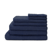 Highams 100% Egyptian Cotton 7 Piece Towel Bale (550gsm) - Navy