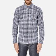 A.P.C. Men's Chemise Saturday Shirt - Bleu Fonce