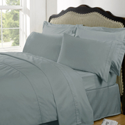 Highams 100% Egyptian Cotton Plain Dyed Bedding Set - Duck Egg