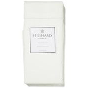 Highams 100% Egyptian Cotton Plain Dyed Fitted Sheet - Cream [China Sizing Only]